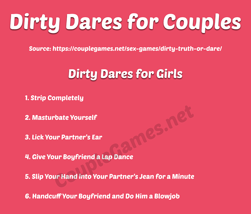 Dirty dares for couples