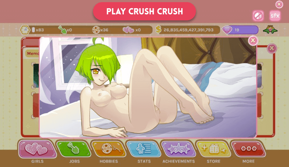 Crush Crush dating simulator game