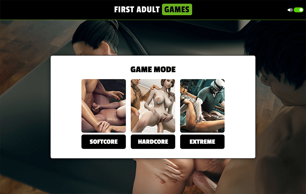 Select a game mode: soft, hardcore or extreme