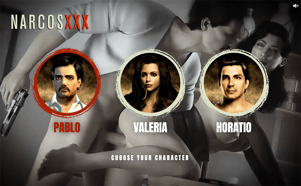 Narcos parody game for adults