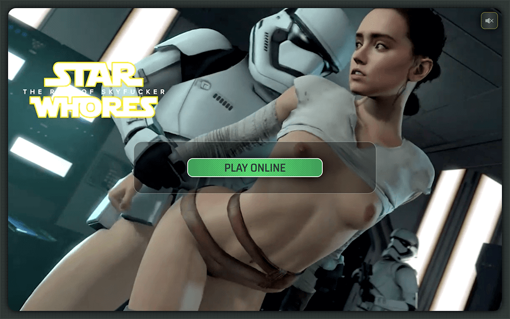 Star Wars porn parody game